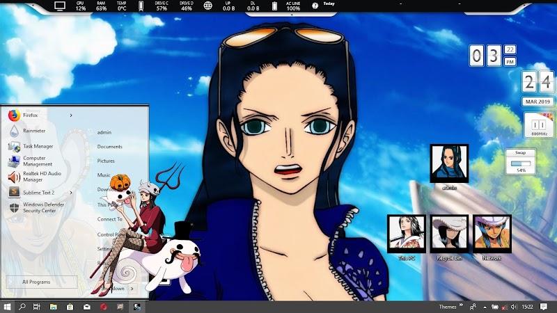 [ThemeWIN10] One Piece - Nico Robin by kurohtenshi