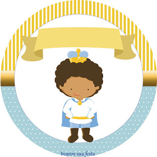 Toppers o Etiquetas de Príncipe Afro para imprimir gratis.