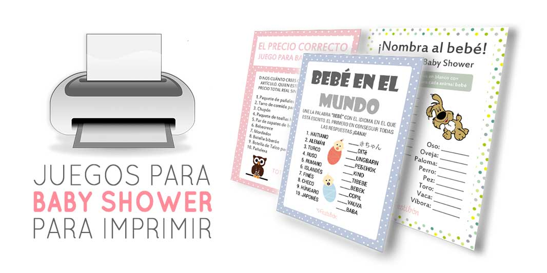 17 Juegos Para Baby Shower Para Imprimir Gratis Juegos De Baby Shower