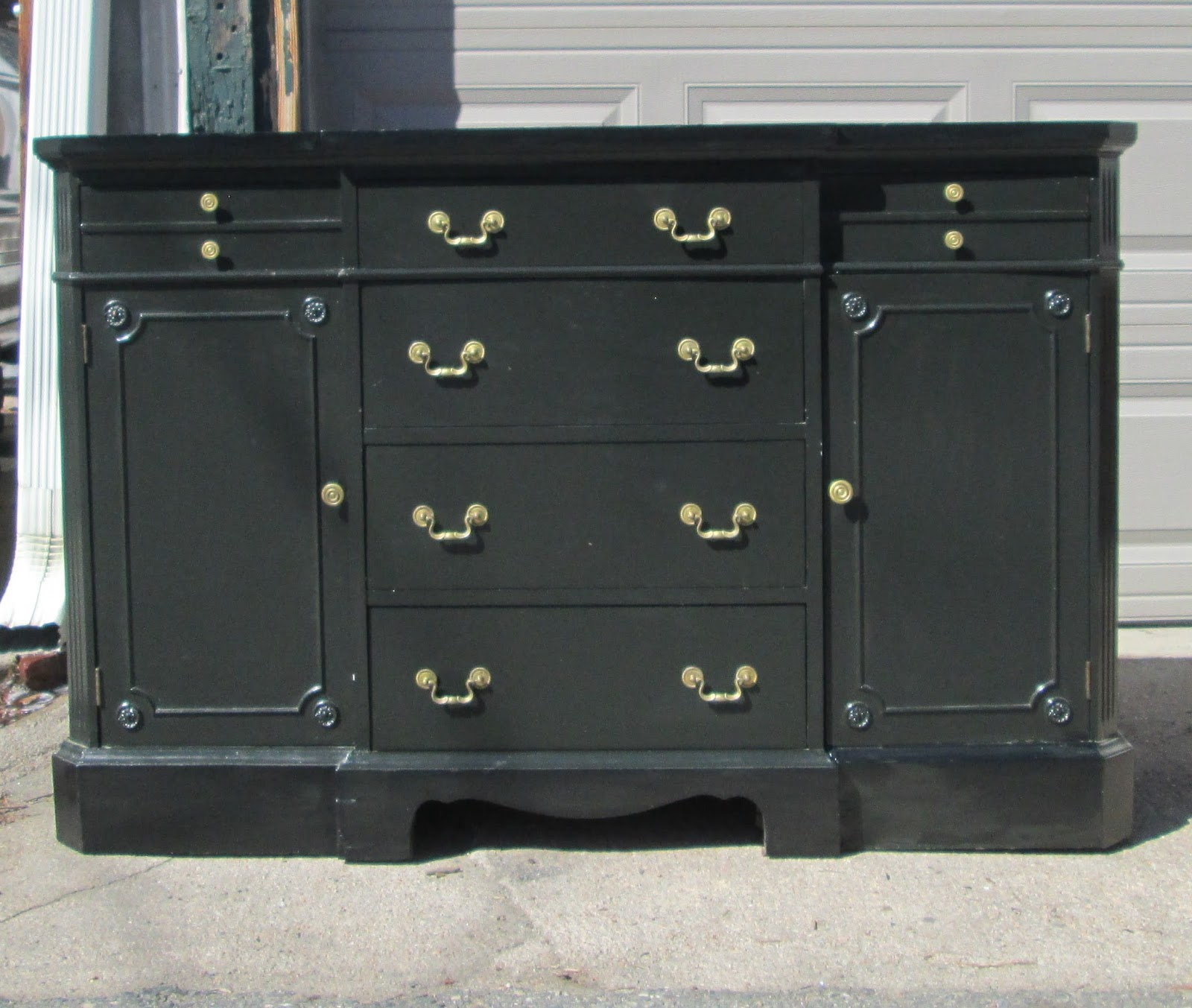 boho chic classic vintage credenza dresser buffet shabby chic black sold. Black Bedroom Furniture Sets. Home Design Ideas