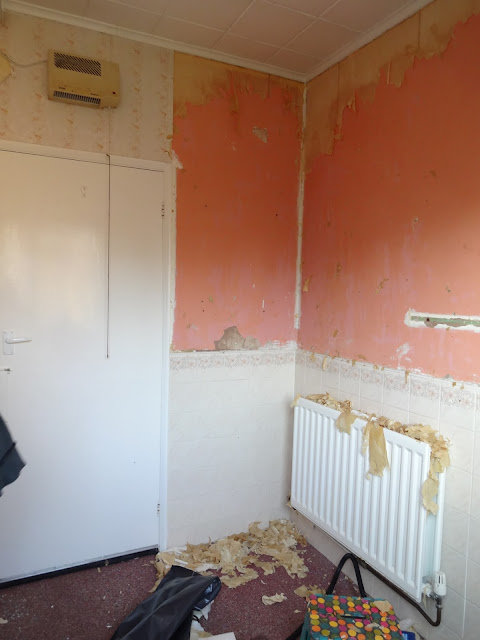 demolition in the shower room