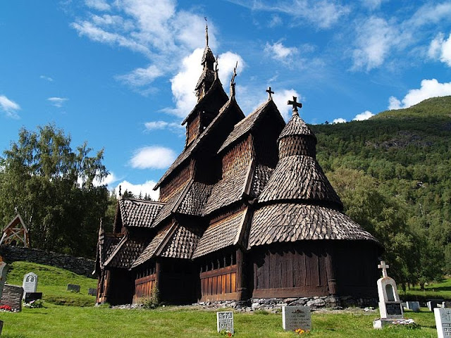 Norway's best-preserved stave church stands in Borgund.
