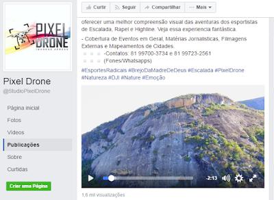 Vídeo Escalada na Serra do Estrago - Brejo da Madre de Deus - Pixel Drone