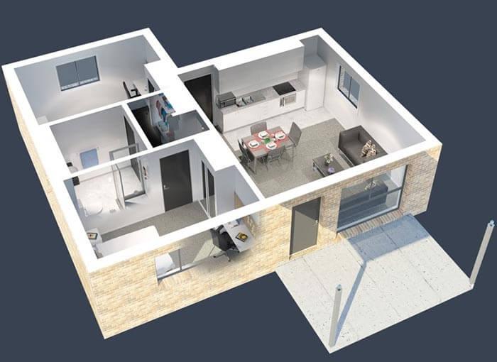 2+1 prefabrik ev örnek modelleri