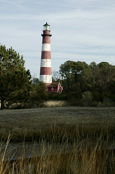 A View of the Whole Building the Lighthouse on Assateague Island National Service
