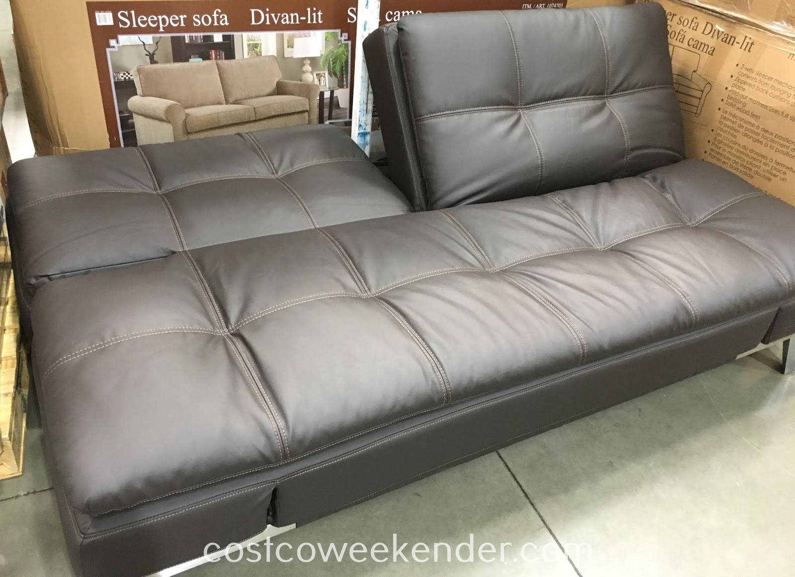 sofa costco ca leather sectional recliners lifestyle solutions euro lounger   weekender