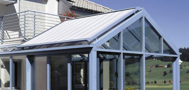 markiza dachowa przeciwsłoneczna, osłona dachu zimowego ogrodu,