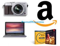 Logo Buoni sconto Amazon fino a 60 euro per videocamere, informatica e Software