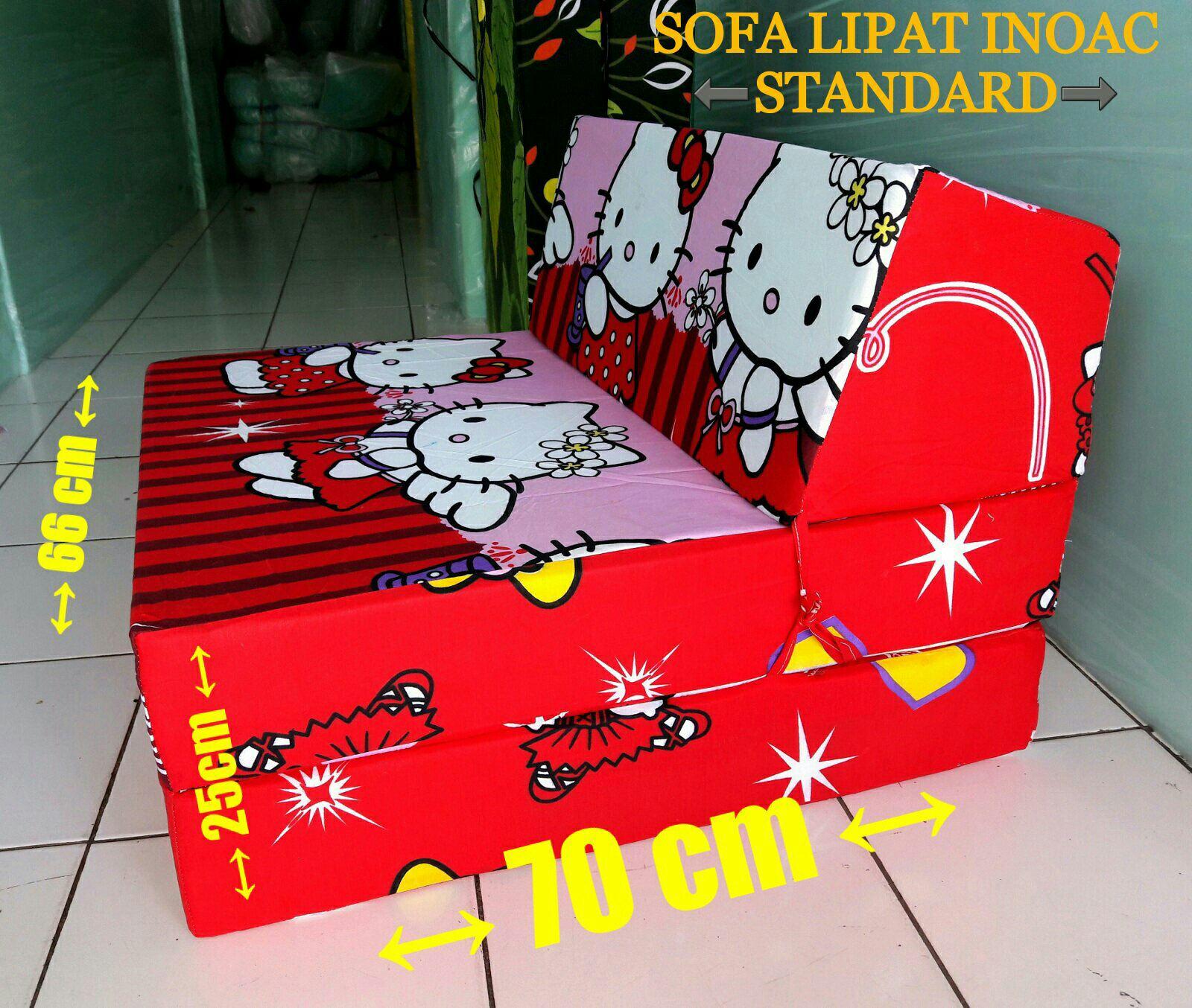 sofa bed kasur busa lipat inoac jakarta recliner single malaysia agen jual ef