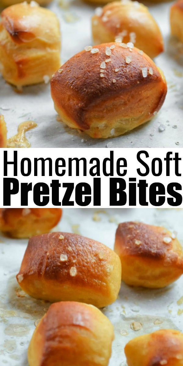 Homemade Soft Pretzel Bites are a favorite finger food appetizer for Super Bowl with nacho cheese sauce! A fun to make snack or appetizer from Serena Bakes Simply From Scratch.