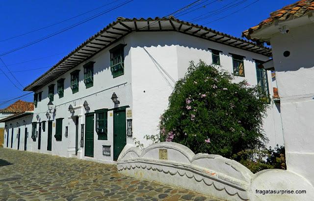 Rua do Centro Histórico de Villa de Leyva, Colômbia