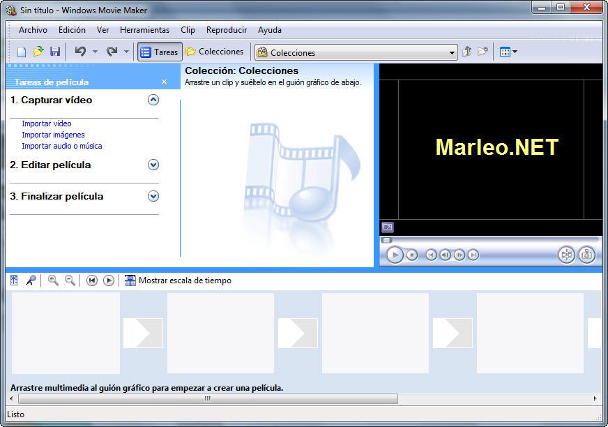 Marleo.NET: Windows Movie Maker en Windows 7