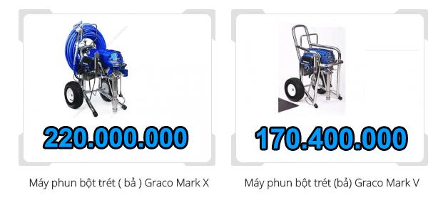 báo giá máy phun sơn công nghiệp graco