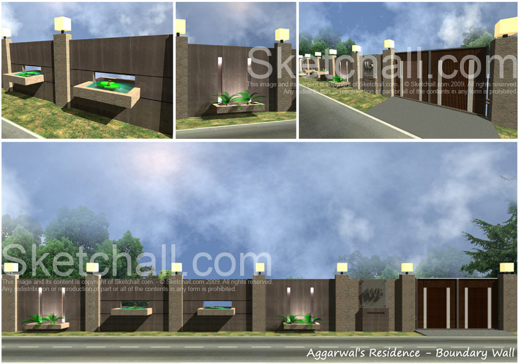 Boundary Wall Designs Photos