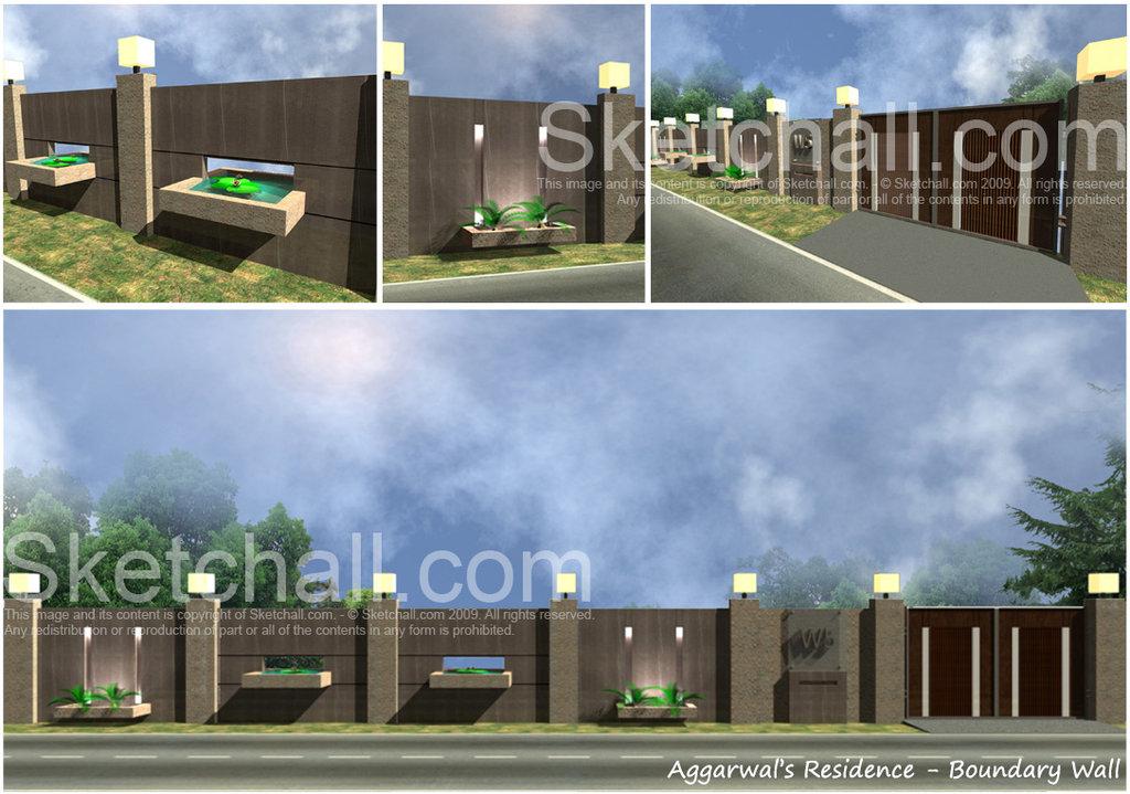 Boundary Wall Designs Photos