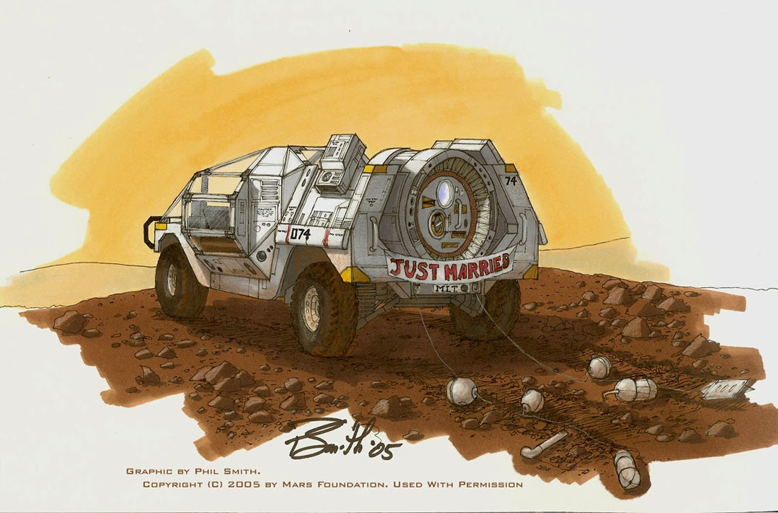 'Just married' on Mars by Phil Smith