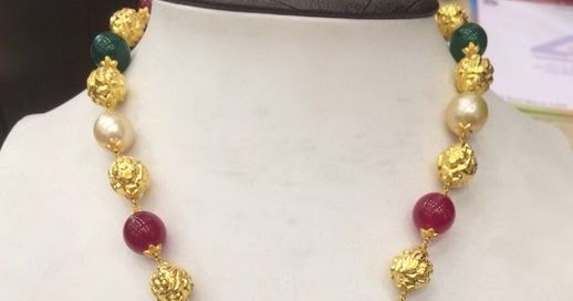 South Sea Pearls And Ruby Beads Set Jewellery Designs