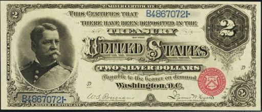 In 1953 The 2 Bill Received Design Changes Ogous To 5 United States Note Treasury Seal Was Made Smaller And Moved Right Side Of