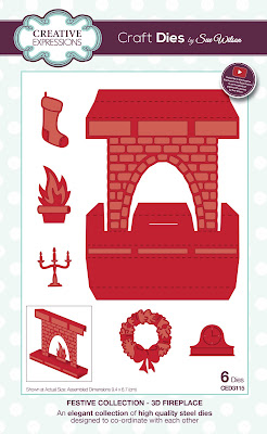 Festive Collection 3D Fireplace Dies - CED3115
