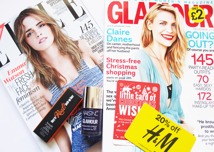 A picture of UK Magazine Freebies - Benefit with Elle & Nails Inc with Glamour