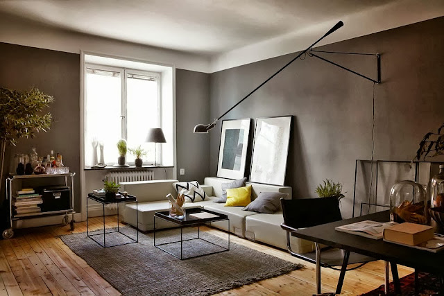 Decordemon a beautiful grey apartment for Decoracion tipo loft