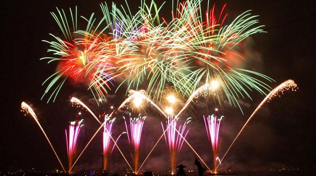 Pantai Losari untuk merayakan tahun baru