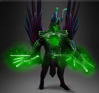 Fractal Horns of Inner Abysm Earth Green