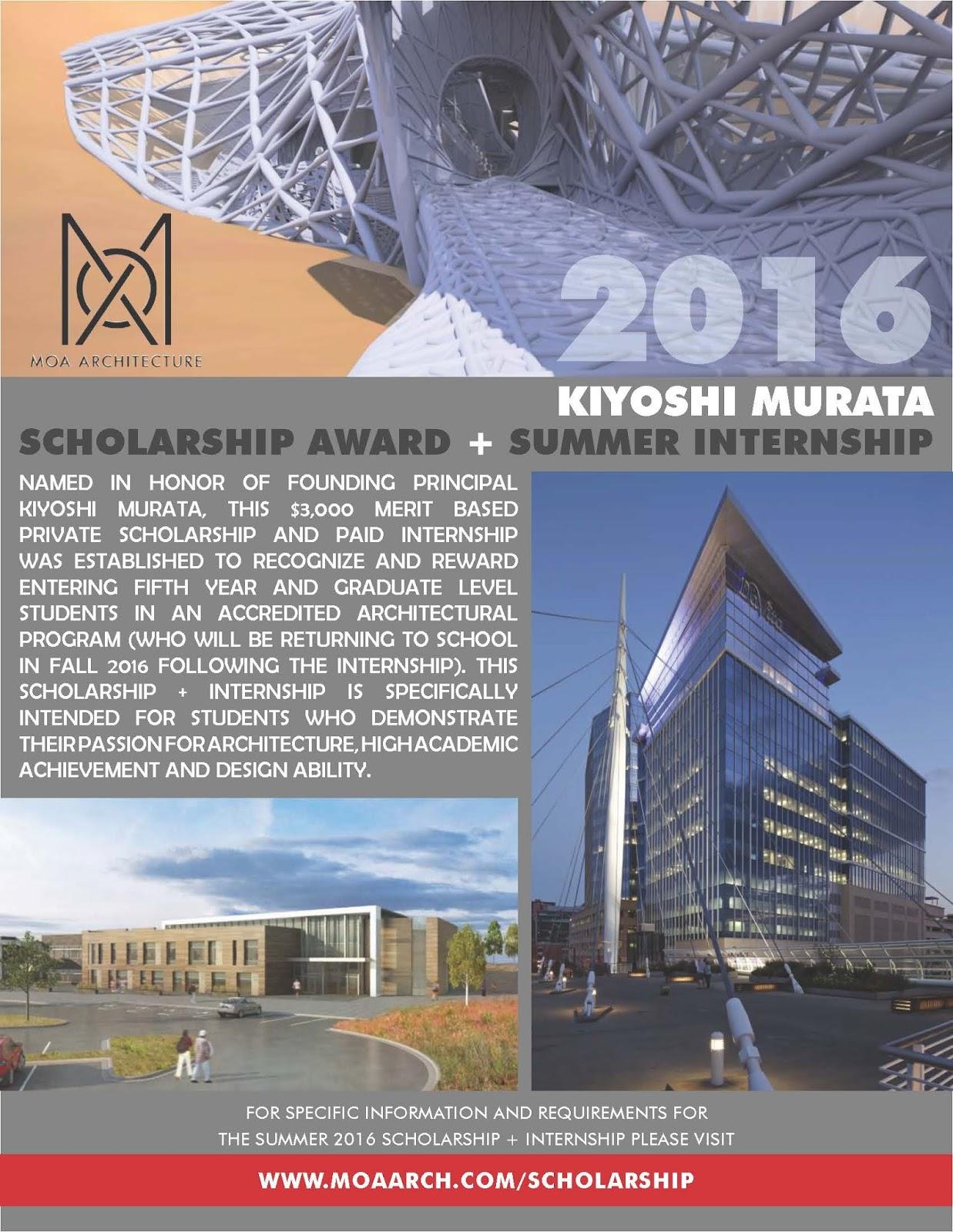 2016 Kiyoshi Murata Scholarship Award Summer Internship