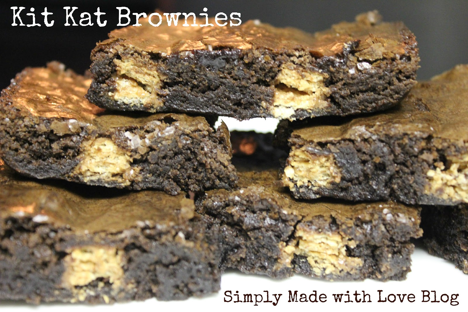 Simply Made With Love Kit Kat Brownies
