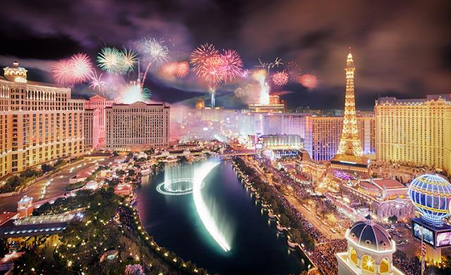 Réveillon e virada do ano novo em Las Vegas