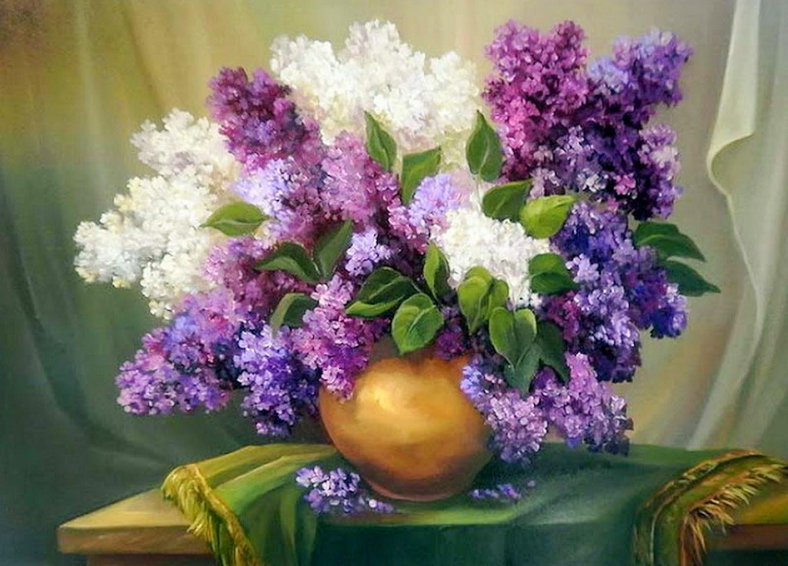Imágenes Arte Pinturas: Pintura al Óleo, Flores Modernas