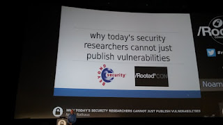 RootedCon 2017 - Noam Rathaus y su Why today's researchers cannot just publish vulnerabilities