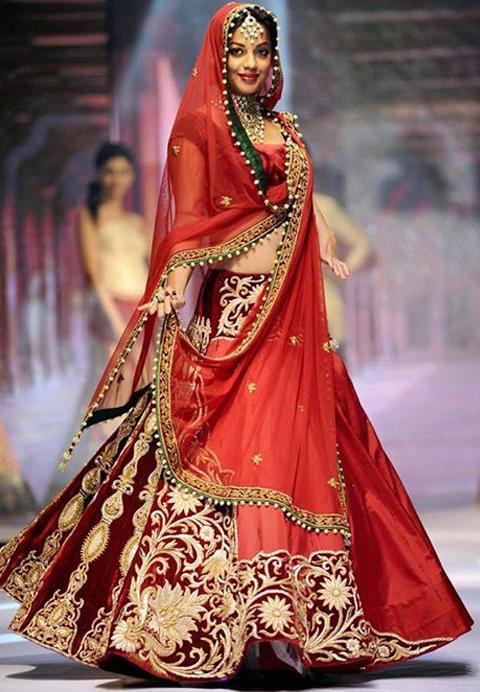 baju pengantin muslimah ala india