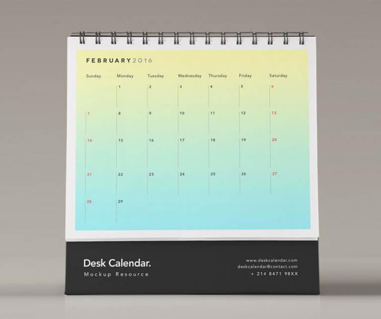 Mockup PSD Kalender 2019 TerbaruMockup PSD Kalender 2019 Terbaru - Desk Psd Calendar Mockup Vol2