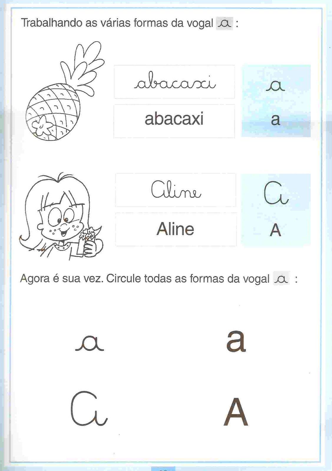 Amado A Arte de Educar: Atividades com vogais para Educação infantil! BK17