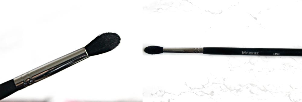 beautybay haul zoeva cocoa blend, Makeup geek eyeshadows UK, morphe eyeshadow brush blender crease M330