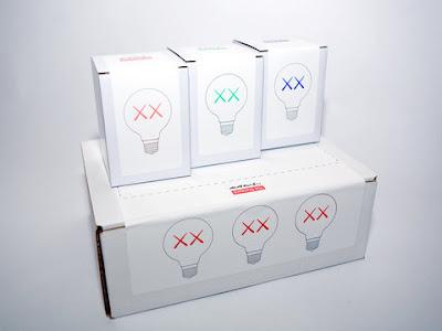 light bulbs by Kaws