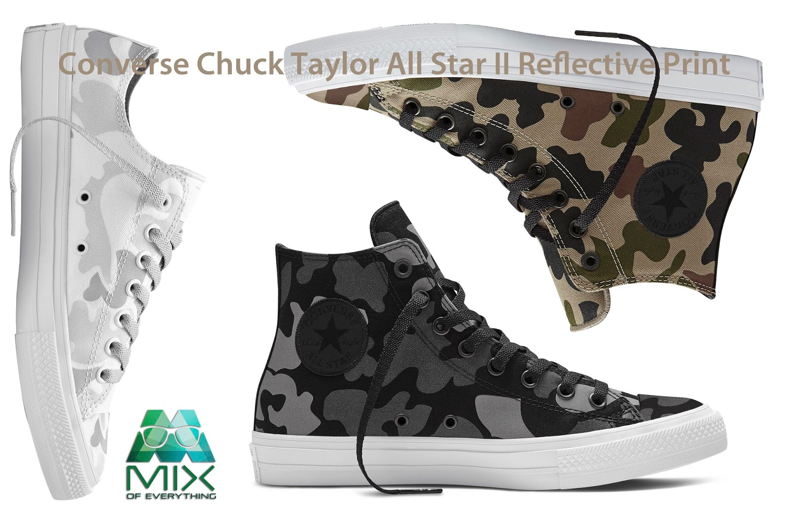 446f33c07c6bf6 Converse Chuck Taylor All Star II Reflective Print - Hello! Welcome ...