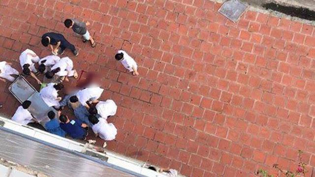 Bệnh nhân lao qua cửa sổ tầng 6 xuống đất, tử vong tại chỗ