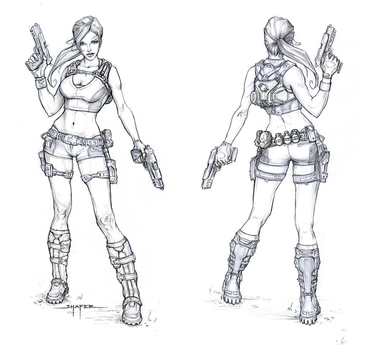 1cebdc082e Lara Croft é a protagonista da série de jogos de videogame Tomb Raider  desenvolvida pela Core Design.Suas principais características são a beleza  ...