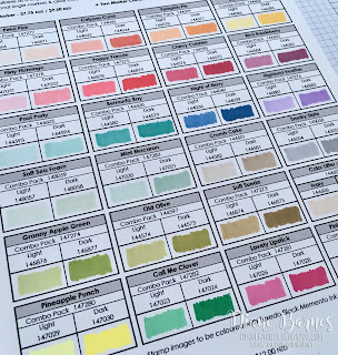 colour me happy: New Stampin' Blends & updated colour chart pdf