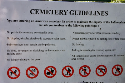 normandy american cemetary guidelines