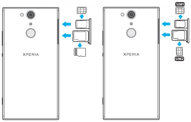 Xperia XA2 Dual tiene bandeja SIM híbrida; XA2 Ultra Dual