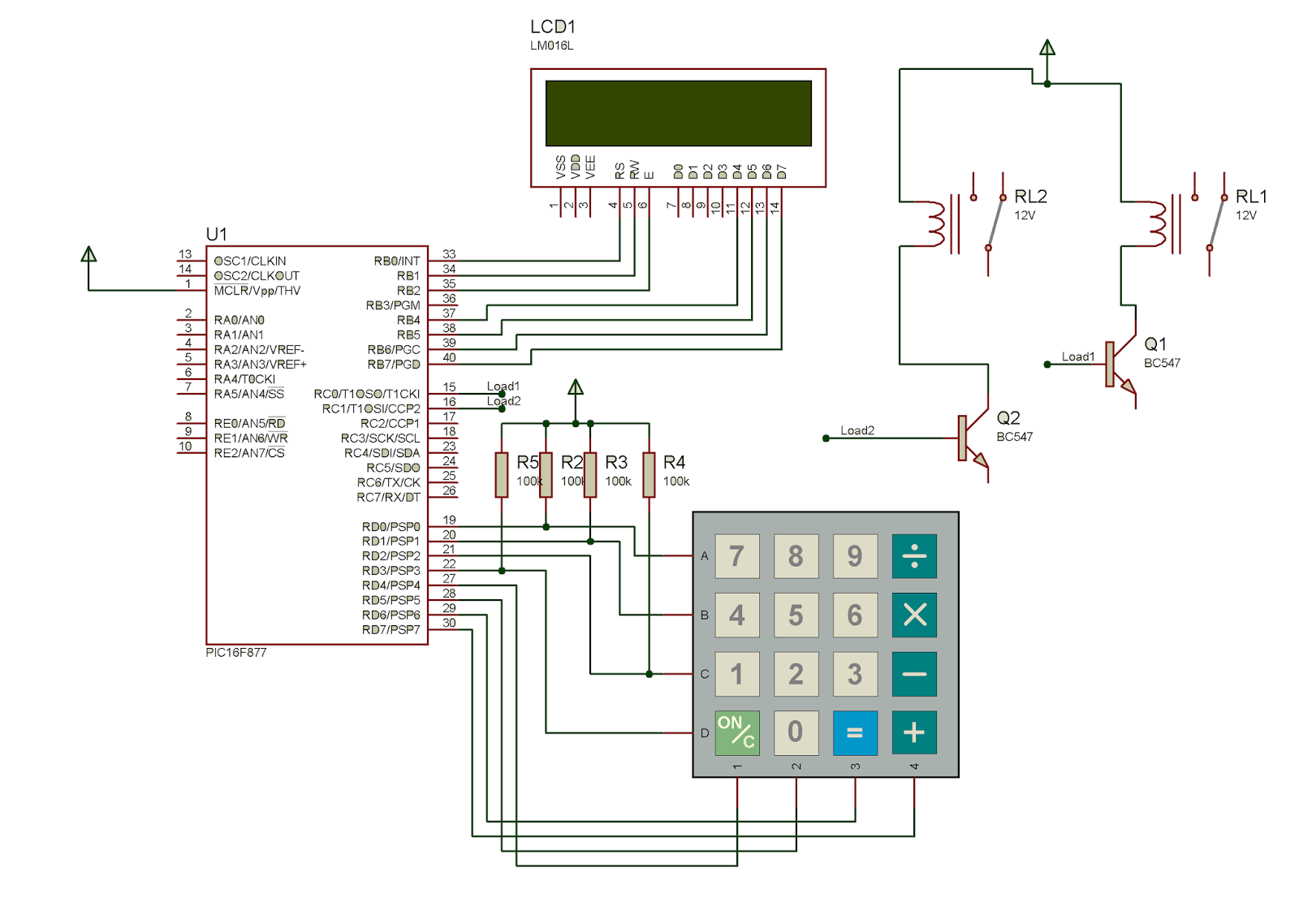 Password Based Circuit Breaker using PIC Microcontroller with C code