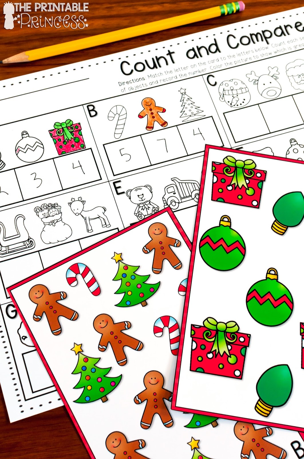 Christmas Literacy and Math Activities for Kindergarten | The ...