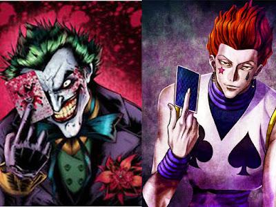 10 Kemiripaan karakter Hisoka (HxH) dengan Joker (DC Comic)