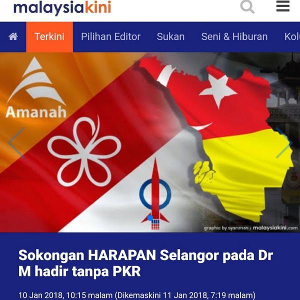 PKR Selangor Enggan Tandatangan Kenyataan Bersama Pengisytiharan Mahathir Sebagai Calon PM dan Wan Azizah TPM