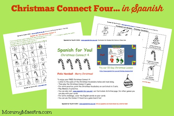 Christmas Connect.Mommy Maestra Free Download Christmas Connect Four In Spanish