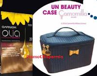 Logo Garnier Olia ti regala come premio sicuro il beauty case Camomilla