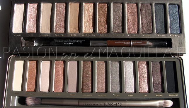 Sombras Naked y Naked 2 Urban Decay